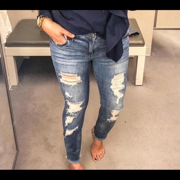 STS Blue Denim - Raw hem distressed jeans